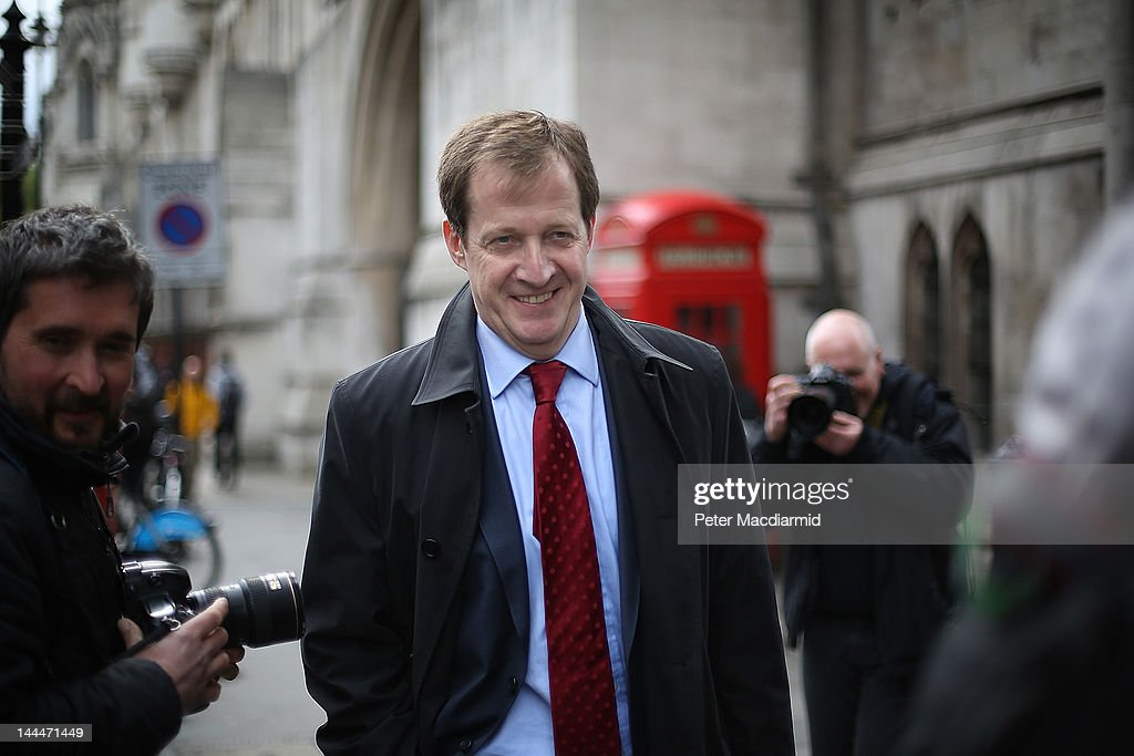 Alastair Campbell former press secretary to Prime Minister Tony Blair leaves The Royal Courts of Justice after appearing at The Leveson Inquiry on...