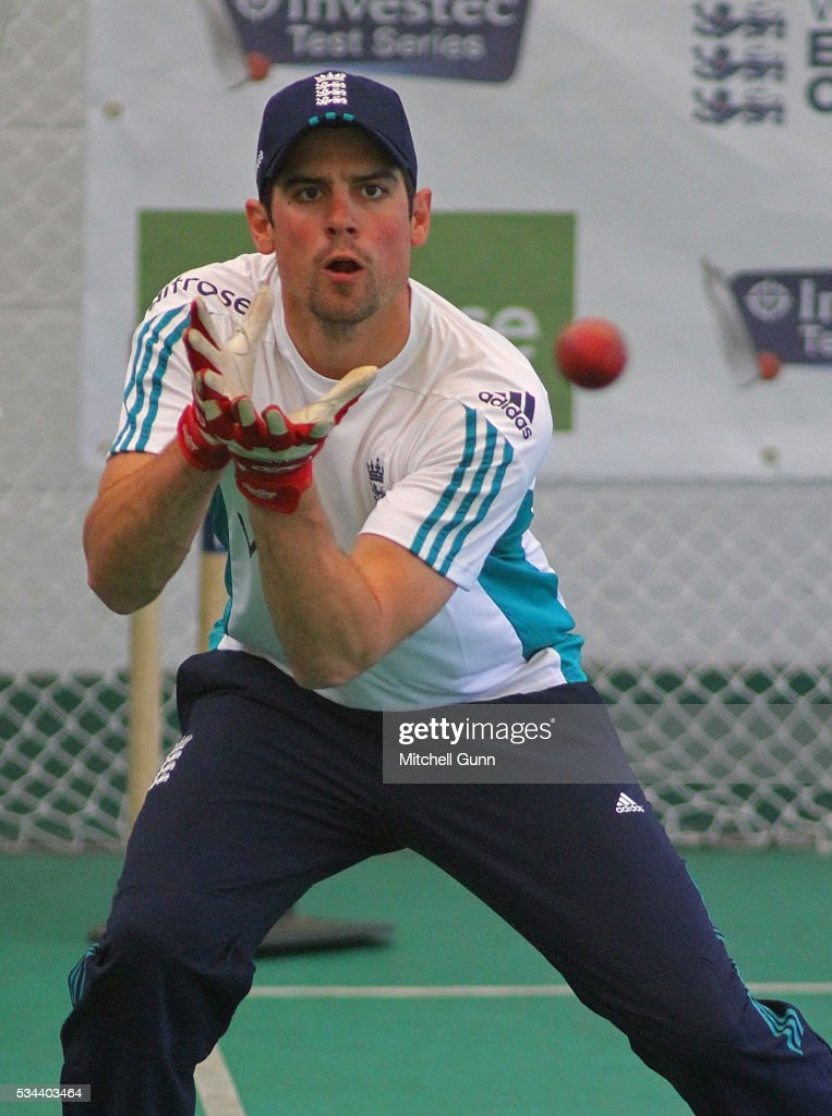 <a gi-track='captionPersonalityLinkClicked' href=/galleries/search?phrase=Alastair+Cook+-+Cricket+Player&family=editorial&specificpeople=571475 ng-click='$event.stopPropagation()'>Alastair Cook</a> during England Nets session ahead of the 2nd Investec Test match between England and Sri Lanka at Emirates Durham ICG on May 26, 2016 in Chester-le-Street, United Kingdom.