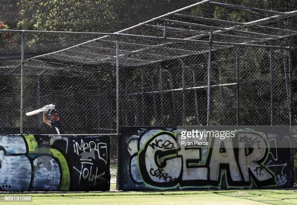 Alastair Cook of England bats during an England nets session at Richardson Park on November 2 2017 in Perth Australia