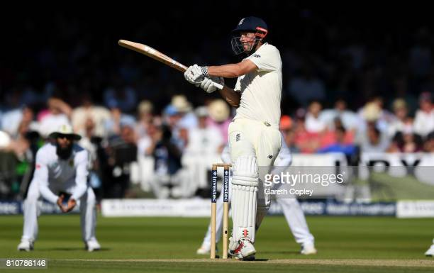Alastair Cook of England bats during day three of the 1st Investec Test match between England and South Africa at Lord's Cricket Ground on July 8...