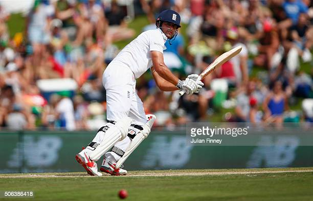 Alastair Cook of England bats during day two of the 4th Test at Supersport Park on January 23 2016 in Centurion South Africa
