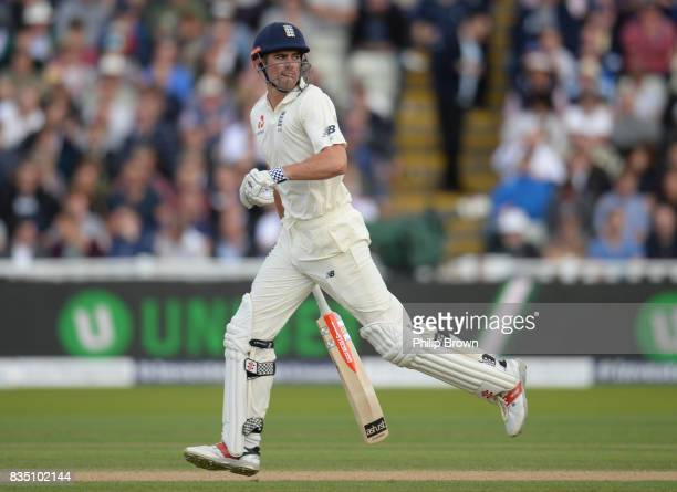 Alastair Cook of England bats during the second day of the 1st Investec Test match between England and the West Indies at Edgbaston cricket ground on...