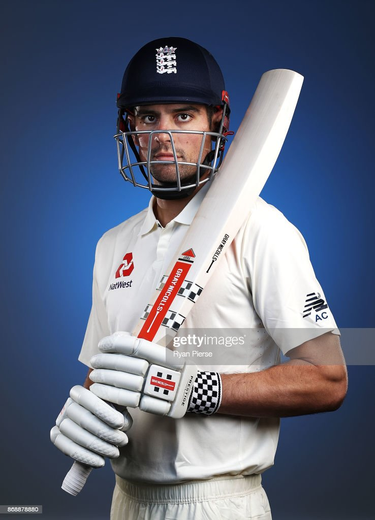 Alastair Cook of England poses during the 2017/18 England Ashes Squad portrait session at the WACA on November 1, 2017 in Perth, Australia.