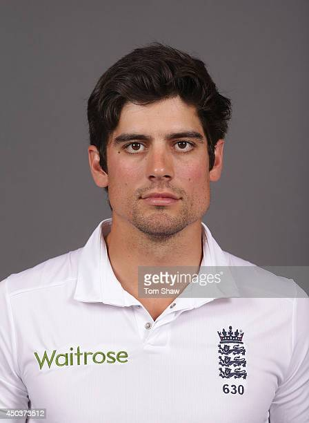 Alastair Cook of England poses for a headshot during the England portrait session at Lord's Cricket Ground on June 10 2014 in London England