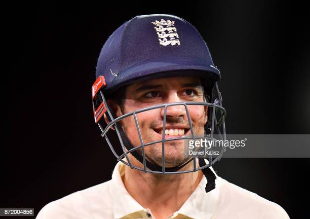 Alastair Cook of England walks from the field at the end of day two of the Four Day Tour match between the Cricket Australia XI and England at...
