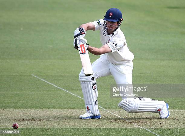 Alastair Cook of Essex hits out during day two of the LV County Championship match between Surrey and Essex at The Kia Oval Cricket Ground on April...
