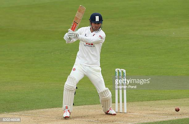 Alastair Cook of Essex in action batting during day one of the Specsavers County Championship match between Essex and Gloucestershire at the Ford...