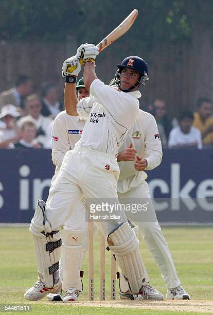 Alastair Cook of Essex in action during day one of the Tour Match between Essex and Australia played at The County Ground on September 3 2005 in...