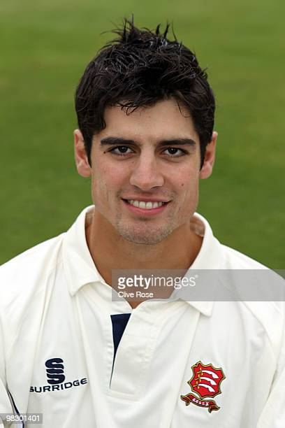 Alastair Cook of Essex poses during the Essex CCC photocall at the County Ground on April 7 2010 in Chelmsford England