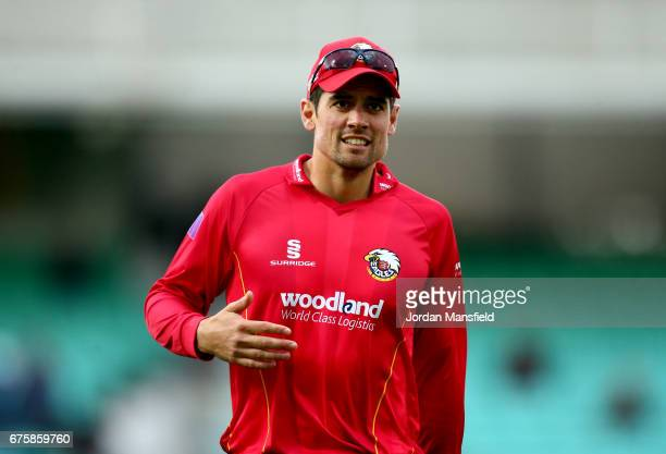 Alastair Cook of Essex walks off the field during the Royal London OneDay Cup match between Surrey and Essex at The Kia Oval on May 2 2017 in London...