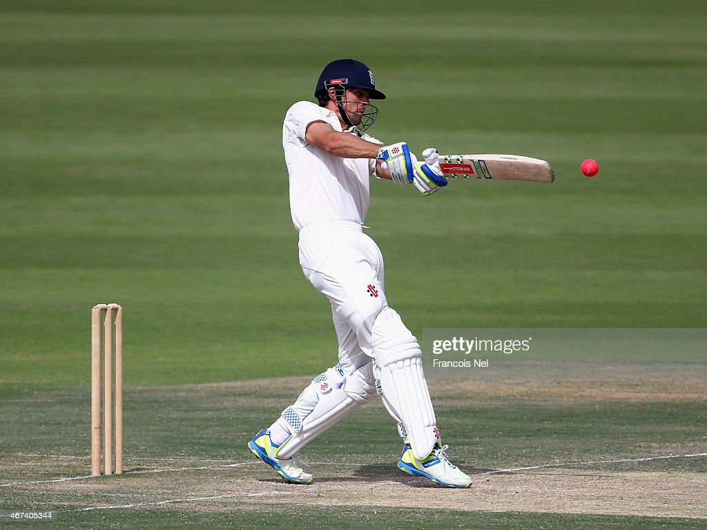 Alastair Cook of Marylebone Cricket Club bats during day ...