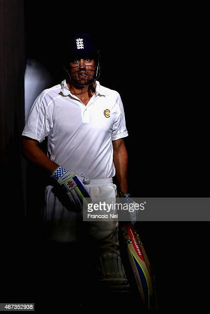 Alastair Cook of Marylebone Cricket Club prepares to bat during day two of the Champion County match between Marylebone Cricket Club and Yorkshire at...