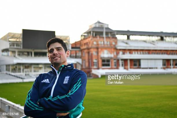 Alastair Cook speaks to the media after stepping down as England Captain at Lord's Cricket Ground on February 7 2017 in London England