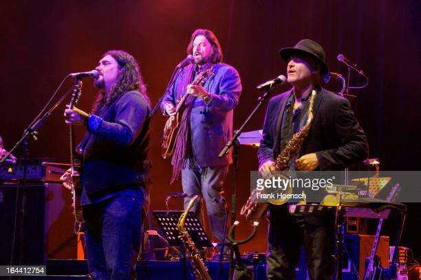 Alastair Greene Alan Parsons and Todd Cooper of The Alan Parsons Live Project perform live during a concert at the Admiralspalast on March 23 2013 in...