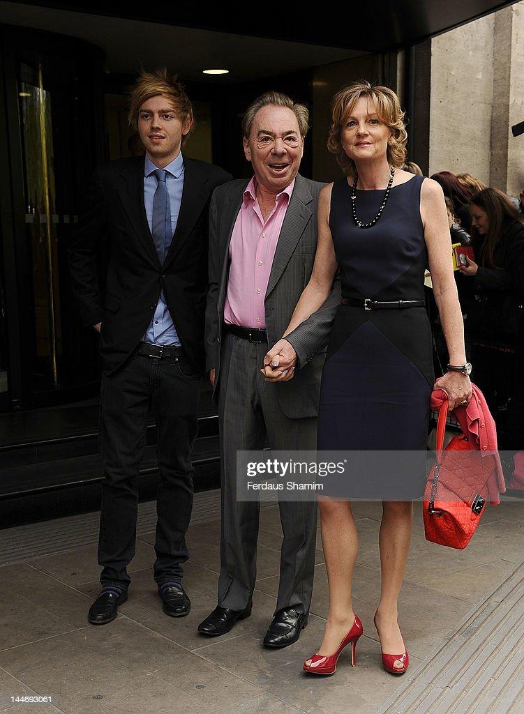 Alastair Lloyd Webber, Andrew Lloyd Webber and Madeline Lloyd Webber attend Ivor Novello Awards at Grosvenor House, on May 17, 2012 in London, England.
