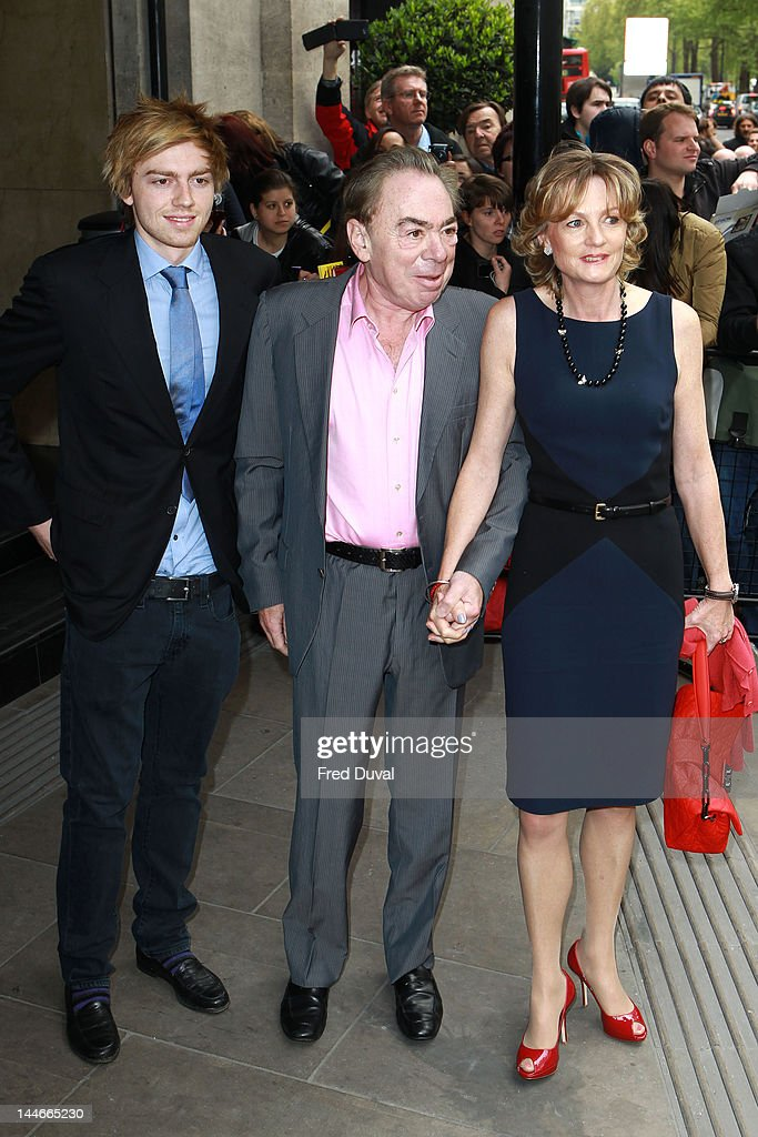 Alastair Lloyd Webber, Lord Lloyd-Webber and Madeleine Lloyd Webber attend the Ivor Novello awards that honours songwriters, composers and music publishers at Grosvenor House, on May 17, 2012 in London, England.