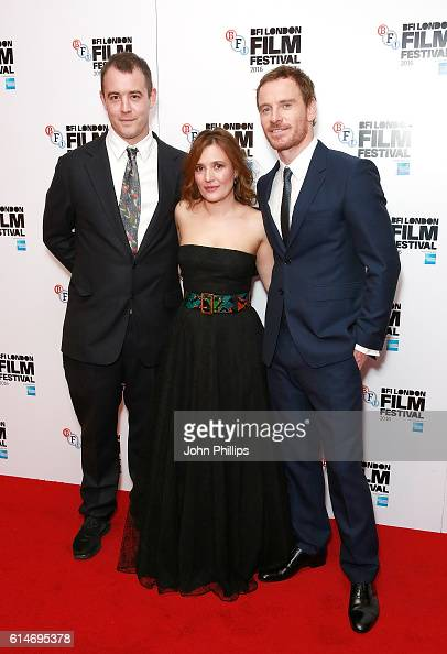 Alastair Siddons Lyndsey Marshal and Michael Fassbender attend 'Trespass Against Us' screening during the 60th BFI London Film Festival at Haymarket...