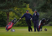 Alastair Webster of Edzell Golf Club with playing partner Ron Caithness during the Golfplan Insurance PGA ProCaptain Challenge Scotland Regional...