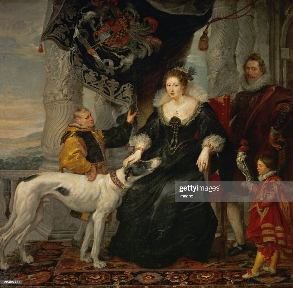 Alathea Talbot Countess of Shrewsbury wife of Thomas Howard Count Arundel Canvas from Peter Paul Rubens Cat 352 Alte Pinakothek Munich Germany...