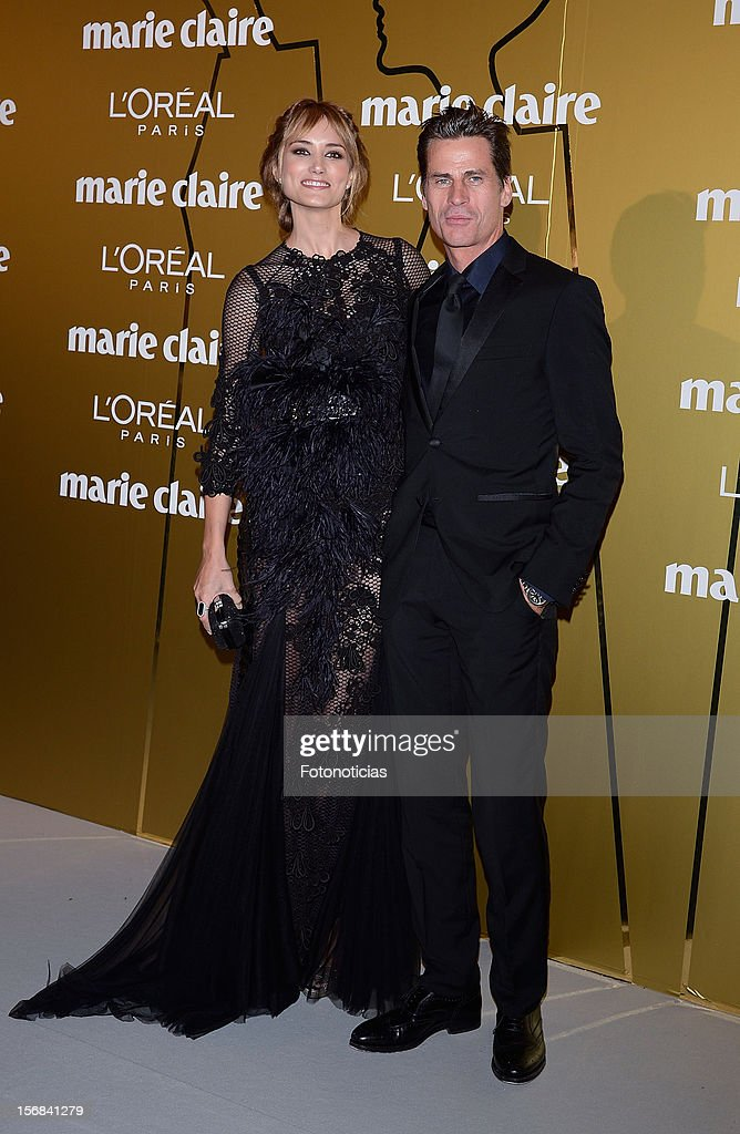 Alba Carrillo (L) and Mark Vanderloo attend 'Marie Claire Prix de la Mode 2012' ceremony at the French Ambassadors Residence on November 22, 2012 in Madrid, Spain.