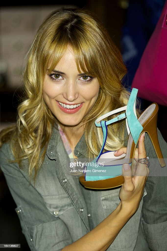 Alba Carrillo attends new 'Fosco' spring summer collection presentation at Fosco store on March 20, 2013 in Madrid, Spain.