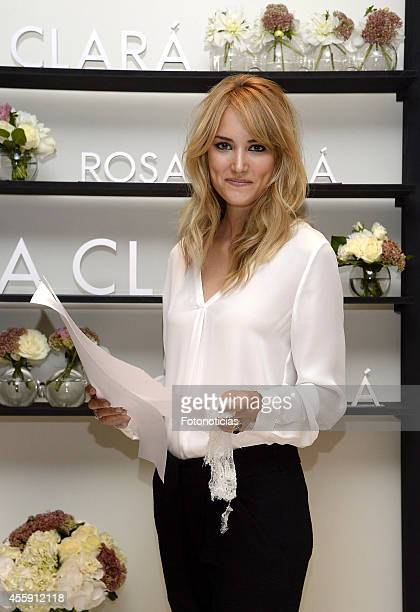 Alba Carrillo visits Rosa Clara boutique on September 22 2014 in Madrid Spain