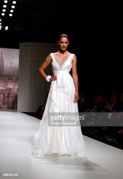 Alba Carrillo walks the runway for the Rosa Clara fashion show during 'Barcelona Bridal Week 2014' on May 6 2014 in Barcelona Spain