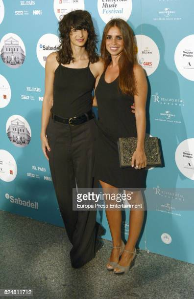 Alba Flores and Elena Furiase attends Rosario concert at the Royal Theatre on July 28 2017 in Madrid Spain