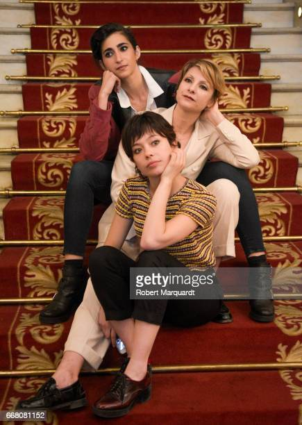 Alba Flores Anna Castillo and Najwa Nimri pose during a presentation for their latest theater production 'Drac Pack' at the Theater Tivoli on April...