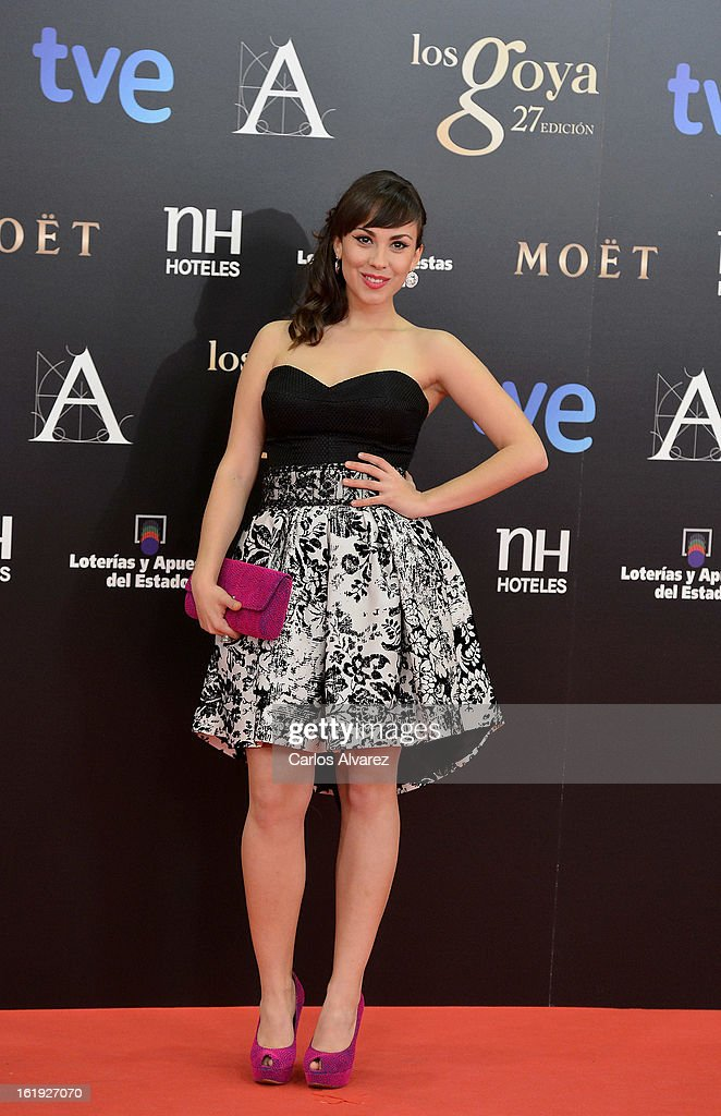 Alba Garcia attends Goya Cinema Awards 2013 at Centro de Congresos Principe Felipe on February 17, 2013 in Madrid, Spain.