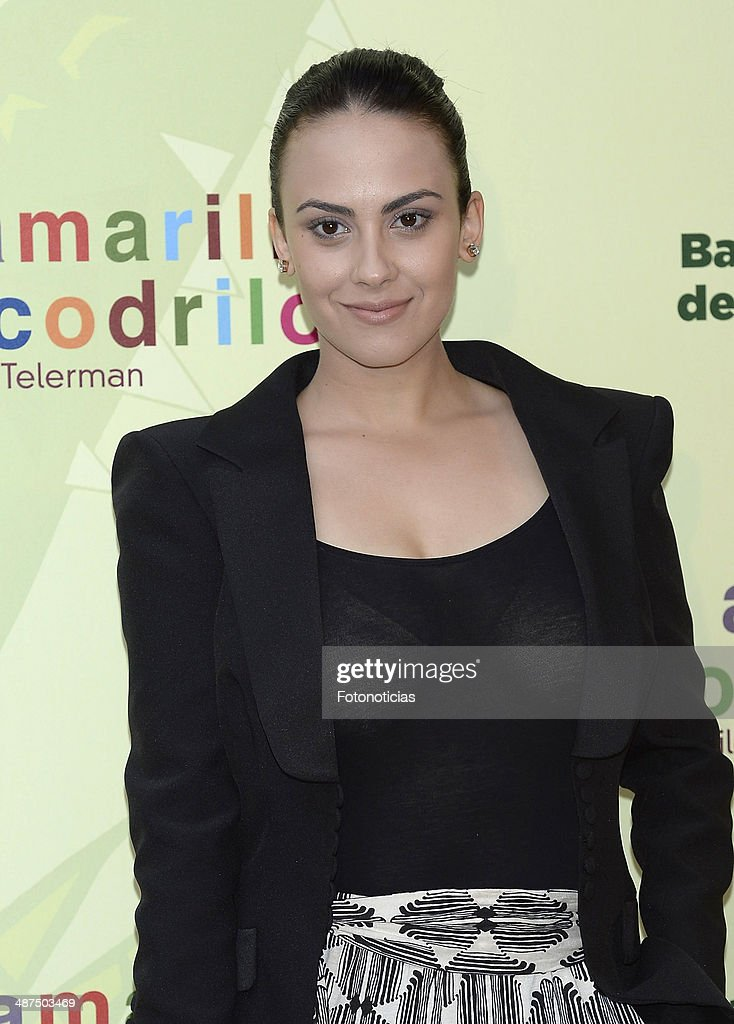 Alba Garcia attends the 'Los Ojos Amarillos de los Cocodrilos' premiere the Academia del Cine on April 30, 2014 in Madrid, Spain.