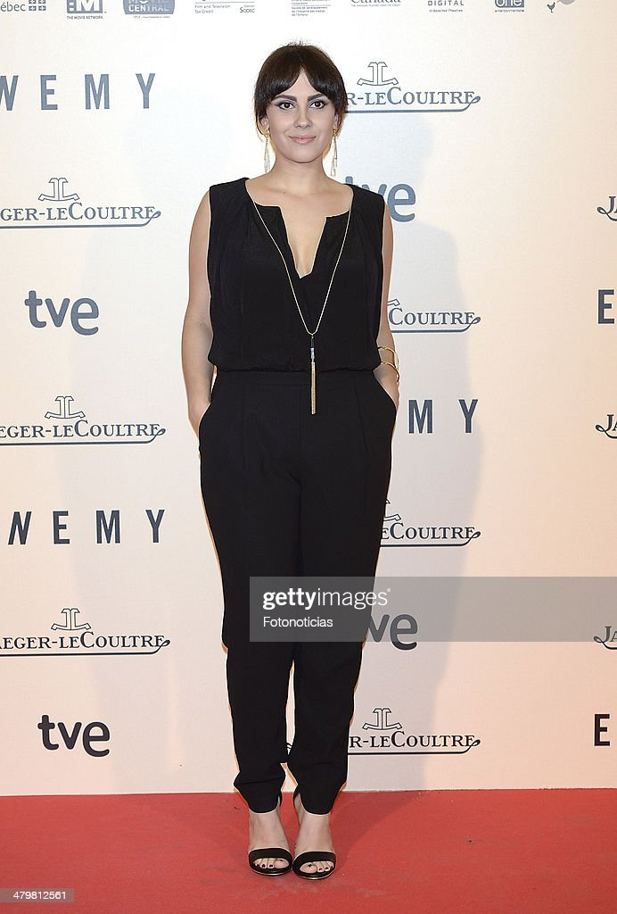 Alba Garcia attends the premiere of 'Enemy' at Palafox Cinema on March 20, 2014 in Madrid, Spain.