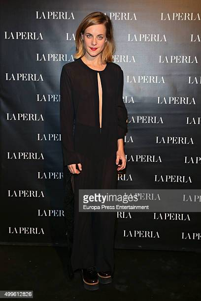 Alba Ribas attends the 'La Perla' store opening at Palau Sant Jordi on November 26 2015 in Madrid Spain