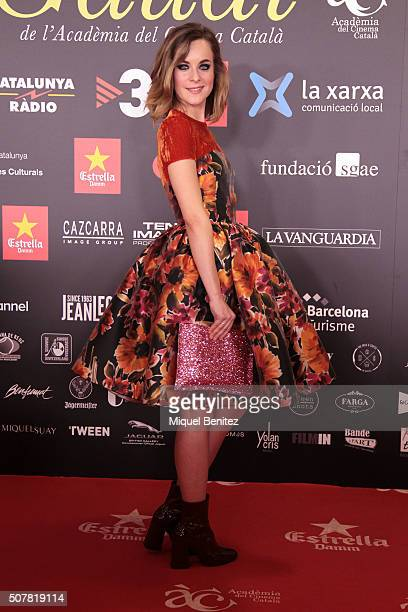 Alba Ribas Benaiges attends the 8th Premis Gaudi of Catalan Cinema at the Forum Auditorium on January 31 2016 in Barcelona Spain