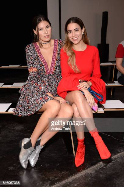 Alba Riquelme and Mimi Fashion Style attend Sally LaPointe fashion show during New York Fashion Week on September 12 2017 in New York City