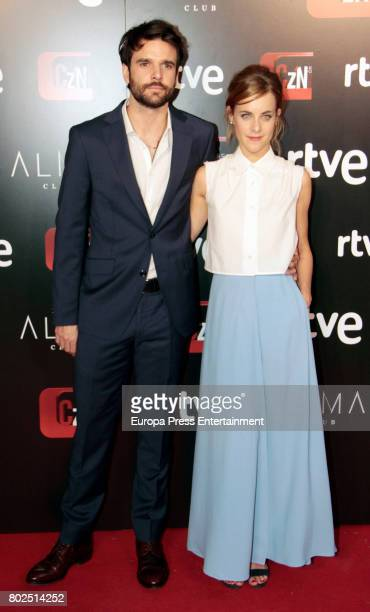 Alba Rivas and Jon Arias attend 'Corazon' TV Programme 20th Anniversary at Alma club on June 27 2017 in Madrid Spain