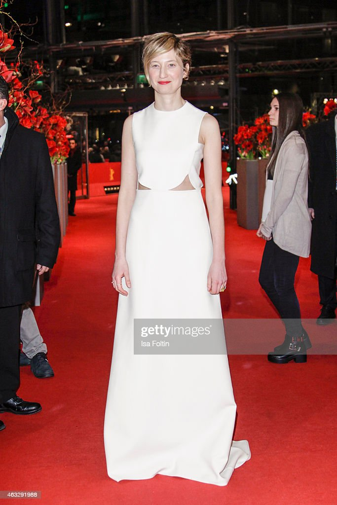 Alba Rohrwacher attends the 'Sworn Virgin' Premiere in Valentino Haute Couture and Pomellato jewels during the 65th Berlinale International Film...