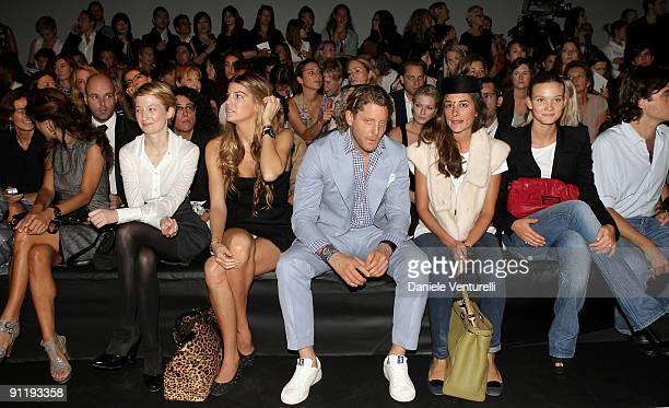 Alba Rohrwacher Bianca Brandolini d'Adda Lapo Elkann Ambra Medda and Fiammetta Cicogna attend the Fendi show as part of Milan Womenswear Fashion Week...