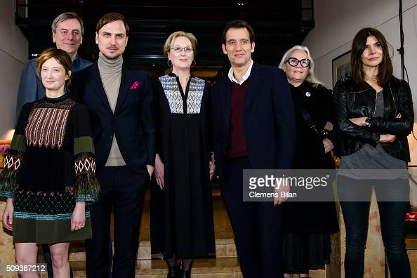 Alba Rohrwacher Nick James Lars Eidinger Meryl Streep Clive Owen Brigitte Lacombe and Malgorzata Szumowska attend the International Jury photo call...