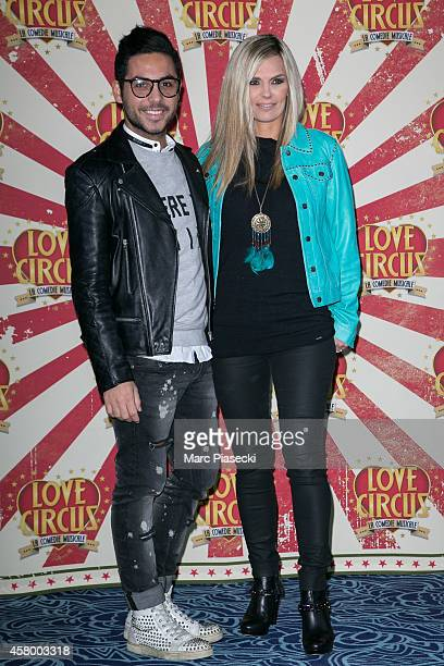 Alban Bartoli and Claire Nevers attend the 'Love Circus The Musical' at Folies Bergeres on October 28 2014 in Paris France