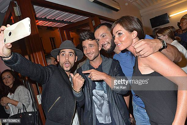 Alban Bartoli Benjamin Bocconi Julien Mior and Gaelle Birgin and rom The Voice attend the 'Ladies Night' Generale at the Palais des Glaces on...