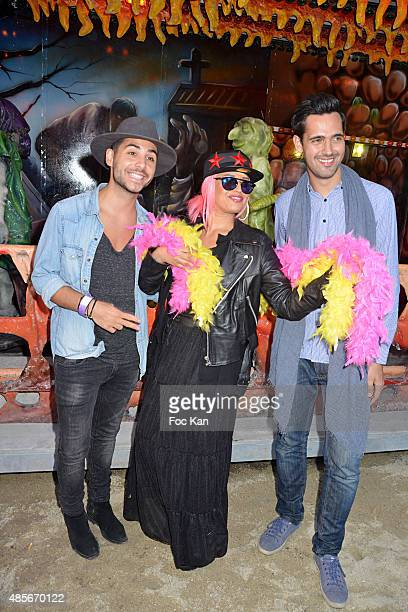 Alban Bartoli Laam and Yoann Freget attend the 'Fete A Neu Neu' Opening Party to Benefit Laurette Fugain Against Leucemy Association at Bois de...