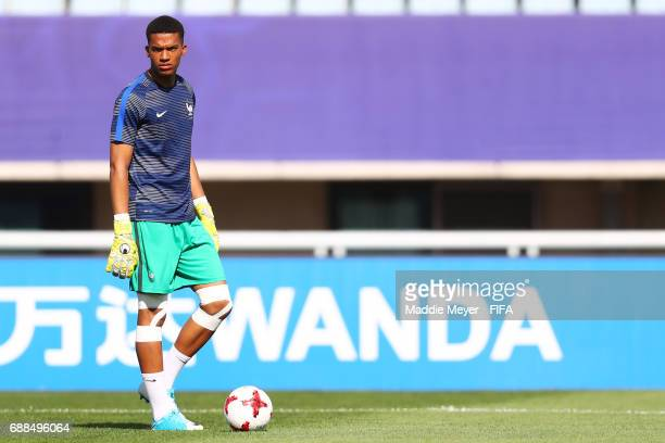 Alban Lafont of France before the FIFA U20 World Cup Korea Republic 2017 group E match between France and Vietnam at Cheonan Baekseok Stadium on May...
