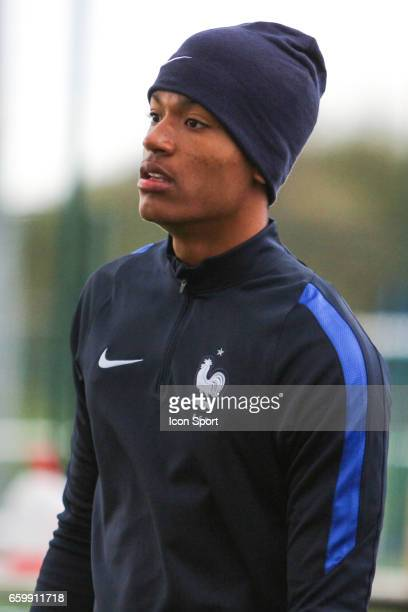 Alban Lafont of France during the 4 Nations Tournament U20 match between France and Portugal on March 28 2017 in Ploufragan France