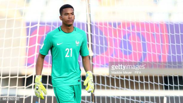 Alban Lafont of France looks on during the FIFA U20 World Cup Korea Republic 2017 group E match between France and Honduras at Cheonan Baekseok...