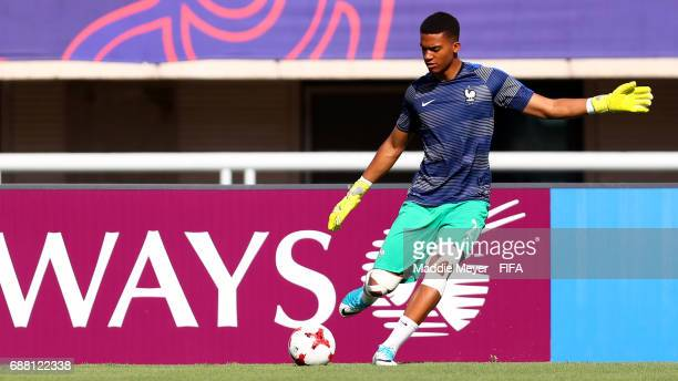 Alban Lafont of France warms up before the FIFA U20 World Cup Korea Republic 2017 group E match between France and Vietnam at Cheonan Baekseok...