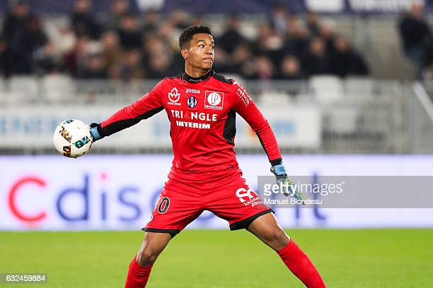 Alban Lafont of Toulouse during the French Ligue 1 match between Bordeaux and Toulouse at Nouveau Stade de Bordeaux on January 21 2017 in Bordeaux...