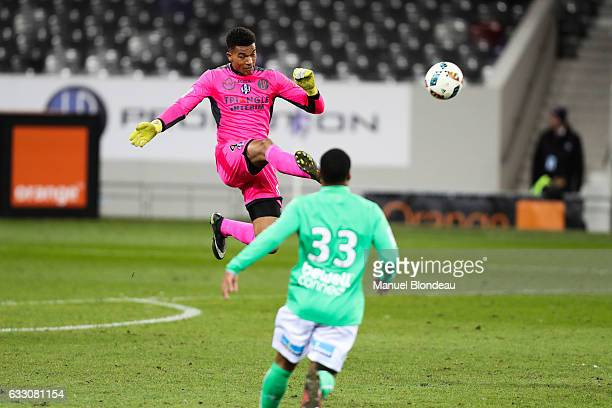 Alban Lafont of Toulouse during the French Ligue 1 match between Toulouse and Saint Etienne at Stadium Municipal on January 29 2017 in Toulouse France