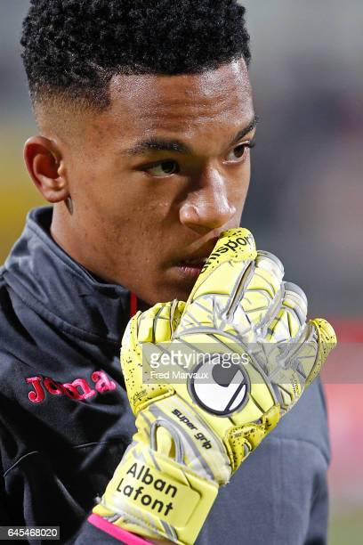 Alban Lafont of Toulouse during the French Ligue 1 match between Nancy and Toulouse at Stade Marcel Picot on February 25 2017 in Nancy France