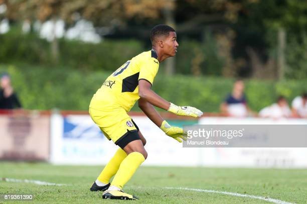 Alban Lafont of Toulouse during the friendly match between Toulouse FC and Deportivo Alaves on July 19 2017 in Saint Jean de Luz France